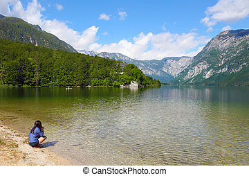 Lake bohinj - Mountain Lake bohinj in Julian Alps, Slovenia...