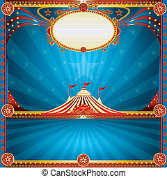 Square circus blue card