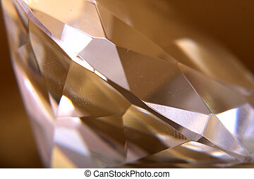 nice diamond on the golden background