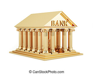 Golden bank icon