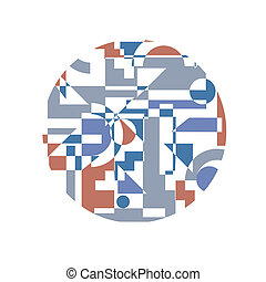 Abstract background in cubism style. Vector EPS 10