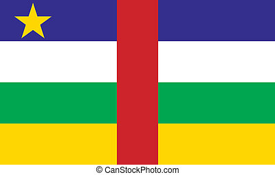 Flag of Central African Republic Vector illustration
