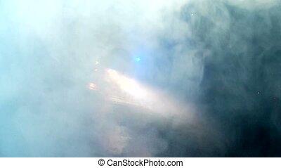 Car in fume