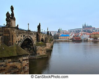 Charles bridge in Prague, Czech republic - Photo of Charles...