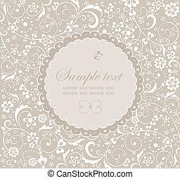 Frame with floral design