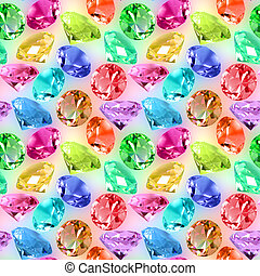 Seamless pattern of motley crystals - Abstract seamless...