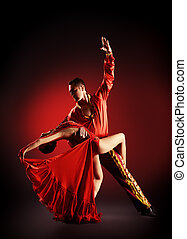 dancers - Professional dancers perform latino dance. Passion...
