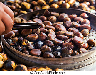 fried chestnuts - Delicious roasted chestnuts fried