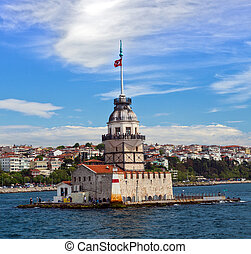 Maidens Tower, Istanbul, Turkey - landscape Maidens Tower at...