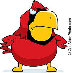 Angry Cartoon Cardinal - A cartoon cardinal with an angry...