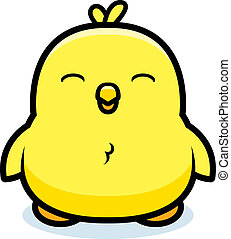 Cartoon Baby Chick - A cartoon baby chick smiling and happy