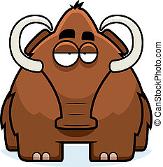 Cartoon Woolly Mammoth - A big brown cartoon woolly mammoth...