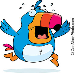 Cartoon Toucan Panic