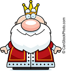 Cartoon King Smiling - A small cartoon king standing and...