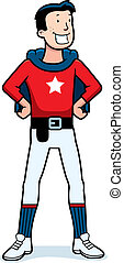 Cartoon Superhero Sidekick - A cartoon superhero sidekick in...