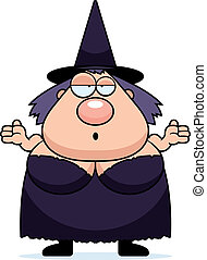 Cartoon Witch Confused