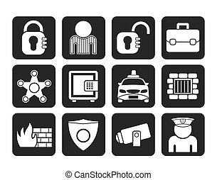 social security and police icons