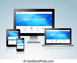 Responsive design concept - Responsive websites design for...