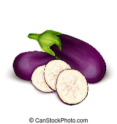 Eggplant aubergine isolated - Vegetable organic food...