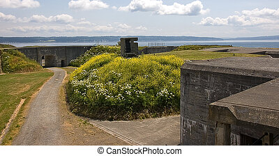 Scenic View from Fort Casey - A beautiful scene taken at...