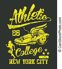 american college team vector art - american college sports...