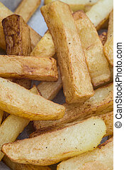 Hand cut tasty potato chips fries - Tasty hand cut home made...