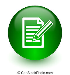 subscribe icon - green glossy web icon