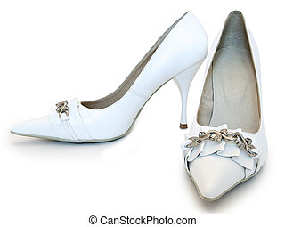 Womens shoes - photo of the white women shoes with high heel...