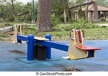 Seesaw - A old seesaw at a old playground