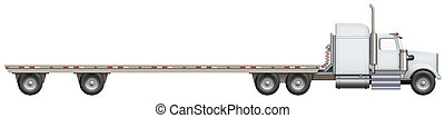 Flatbed Truck - Illustration of a flatbed truck. The bed is...