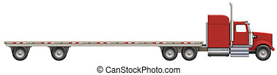Flatbed Truck - Illustration of a flatbed truck The bed is...