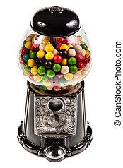Bubble Gum machine - a bubble gum vending machine isolated...