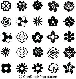 flower vector set, flowers icon for decorate