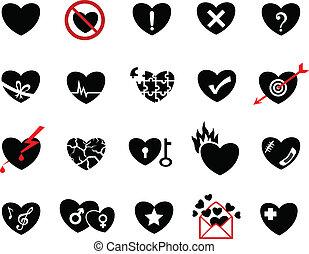 love concept  icon set
