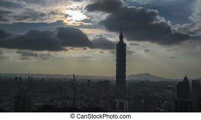 Time lapse of Nice view of Taipei