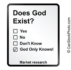 Market Research God Sign - Monochrome market research God...
