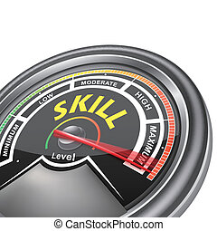 vector skill conceptual meter indicator isolated on white...