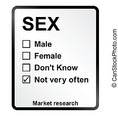 Market Research Sex Sign - Monochrome market research sex...
