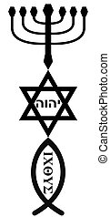 religious symbols - Symbols of Judaism and Christianity