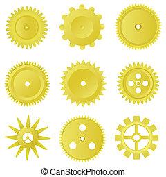 Golden gear set
