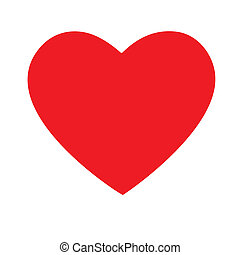 red heart - vector illustration of red heart
