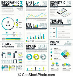Business and human vector infographic element big set...