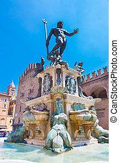 fuente, neptuno, Bolonia, Italia