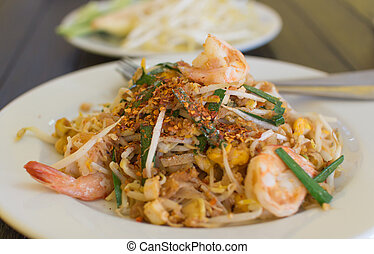 Pad thai- stir-fried noodles Thailands national dishes
