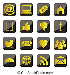 Set of vector social network icons