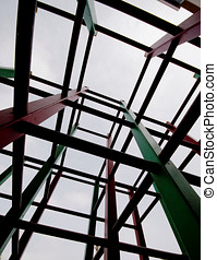 Structure geometric Iron construction
