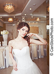 迷人, 圖片, 年輕, 新娘, 婚禮
