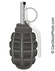 Grenade on the white background Vector illustration