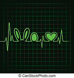 Heartbeat make easter symbols - Heartbeat make easter symbol...