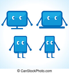 Cartoonish gadget designs stock vector